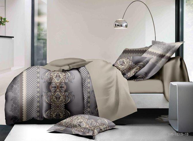 Stylish Damask Print Polyester 4-Piece Duvet Cover Sets