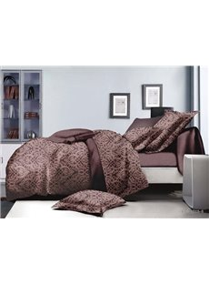 Unique Jacquard Print Polyester 4-Piece Duvet Cover Sets