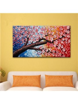 Delicate Rectangle Beautiful Flower Pattern Canvas Home Decorative Oil Painting