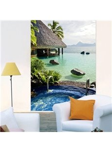 luxury Vacation on Beach Printing 3D Roller Shades