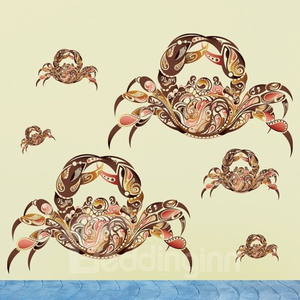 Amusing Crabs Pattern Home Decorative Wall Stickers
