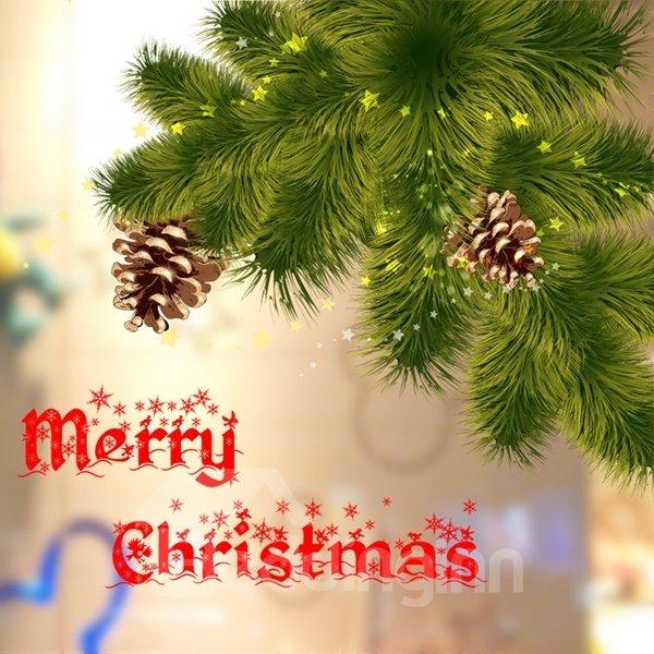 Christmas Decorative Pine Tree Pattern Wall Stickers