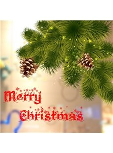 Christmas Decorative Pine Tree Pattern Wall Stickers