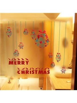 Decorative Merry Christmas Letters Pattern Wall Stickers