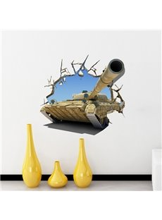Creative Vivid Tank Pattern Home Decorative 3D Wall Sticker
