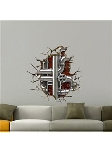 Fancy Design Home Decorative Water Pipe Pattern 3D Wall Stickers