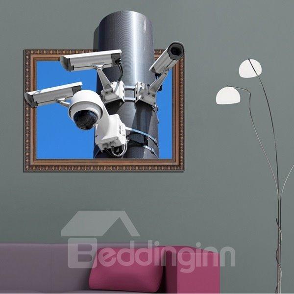 Fantastic Rectangle Modern Technology Webcam Pattern 3D Wall Stickers
