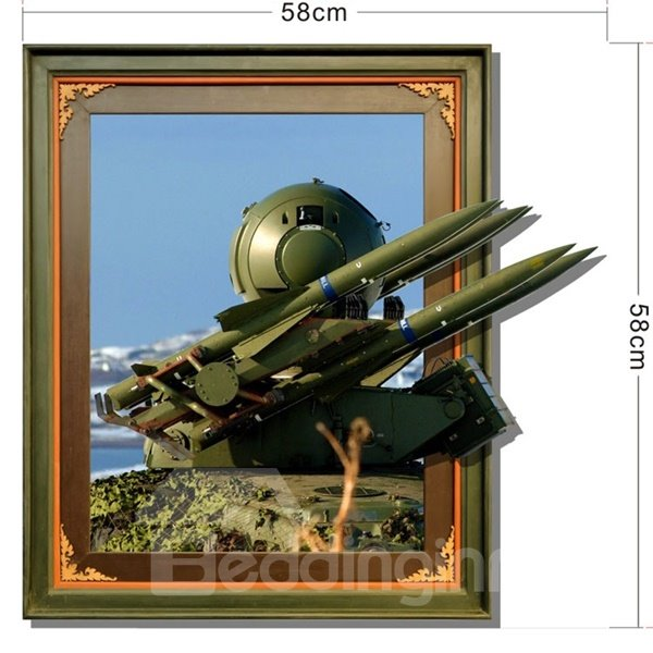 Rectangle Technological Weapon Pattern Decorative 3D Wall Stickers