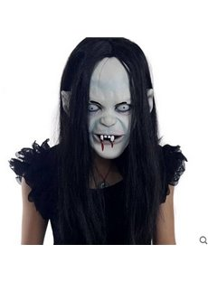 Horrible Black Hair Ghost Design Halloween Mask