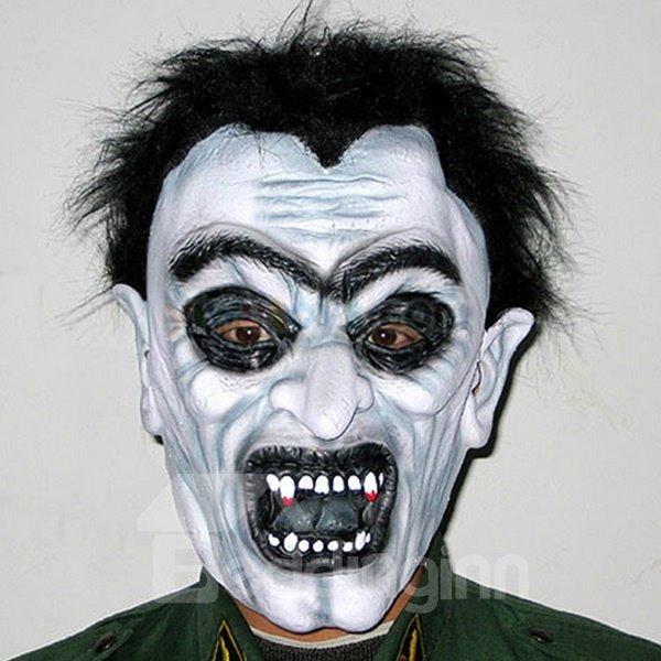 Fearful Black Hair Zombie Design Halloween Mask