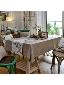 Modern Design Fabric Rectangle Pure Gray House Decoration Tablecloth