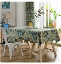 Delicate Washable Fabric Rosemary Flower Pattern Tablecloth