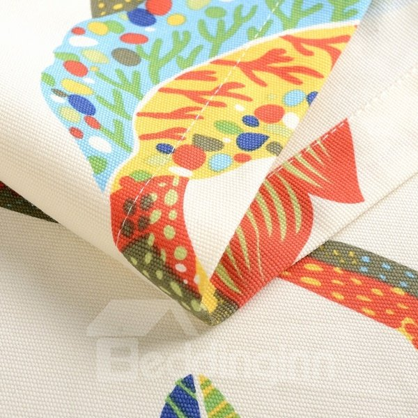 Colorful Country Style Fabric Birds and Cage Pattern Tablecloth
