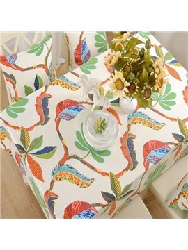 Unique Design Fabric Selva Plant Pattern for kitchen Decor Tablecloth