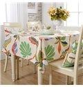 Unique Design Fabric Selva Plant Pattern for kitchen Decor Tablecloth