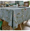 Stout Rectangle Fabric Country Style Flower Pattern Tablecloth