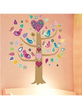 Cute Home Decorative Flower and Bird On the Tree Wall Stickers