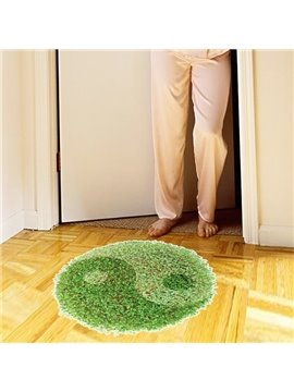 Green Round Tai Chi Pattern Home Decoration Floor Stickers