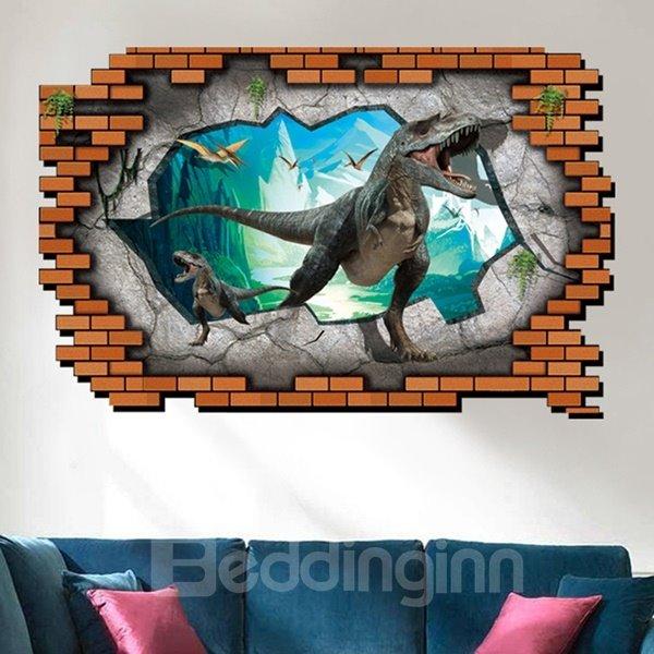 Unique Design Jurassic Period Dinosaur Pattern 3D Wall Stickers