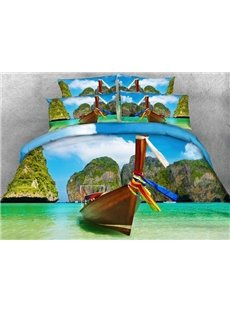 Attractive Phi Phi Islands Print 5-Piece Comforter Sets