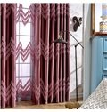 Thicken Embroidery Damask Purple Flax Grommet Top Curtain