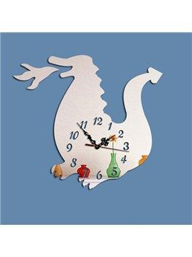 Amusing Creative Acrylic Cartoon Animal Pattern Battery Wall Clock