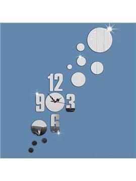 Modern Fashion Acrylic Round Circle Design Decoration Battery Wall Clock