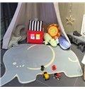 Cute Elephant Shape Home Decoration Baby Rug