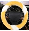 Super Popular Contrast Color Design Plush Comfortable Car Steering Cover
