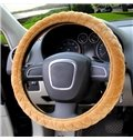 Super High Cost-Effective Solid Plush Material Car Steering Wheel Cover