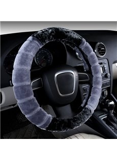 Special Cool Contrast Color Style Design Plush Material Car Steering Wheel Cover