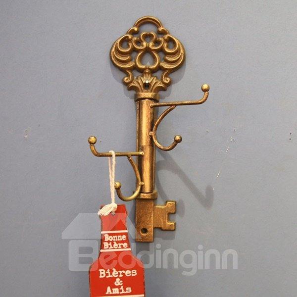 Classic European Style Iron Key Shape Home Decorative Wall Hooks