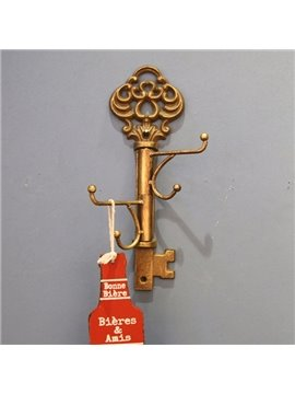 Classic European Style Iron Key Shape Home Decorative Wall Hooks