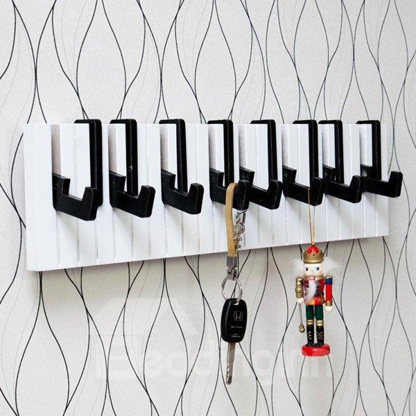 Fancy Creative Piano Shape Home Decorative Wall Hooks