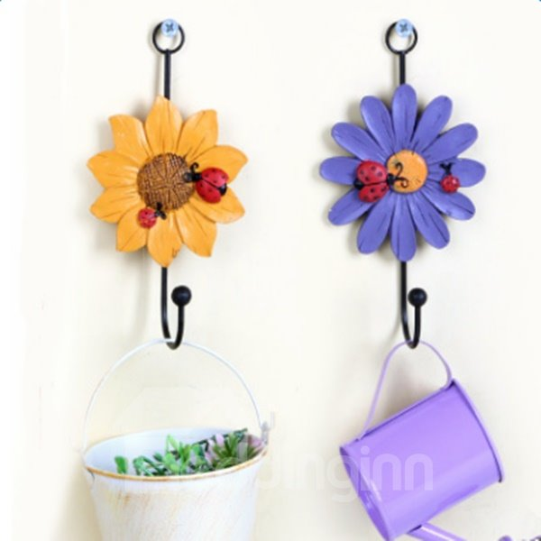 Beautiful Country Style Flower Shape Home Decorative Wall Hook