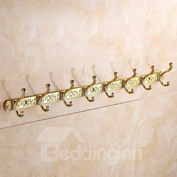Top Grade European Style Flower Pattern Decorative Copper Wall Hooks