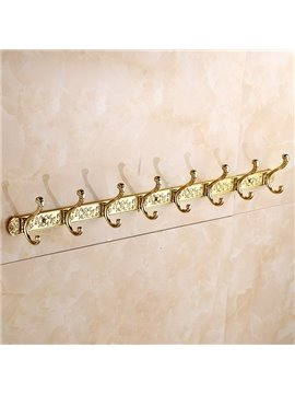 Top Grade European Style Flower Pattern Decorative Copper Wall Hooks