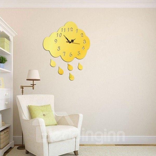 Universal Acrylic 3D DIY Cloud Design Battery Room Silent Wall Clock