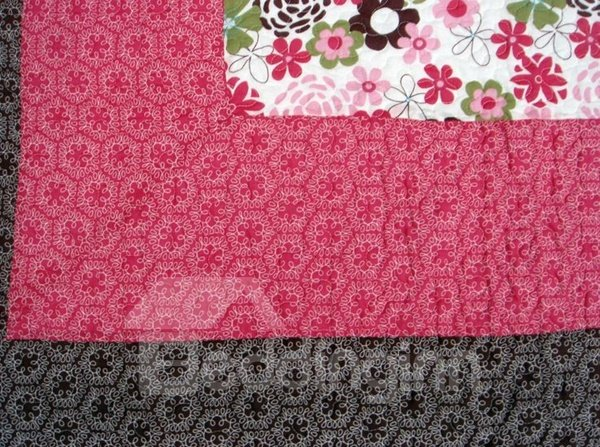 Fancy Floral Print Cotton Pink Bed in a Bag