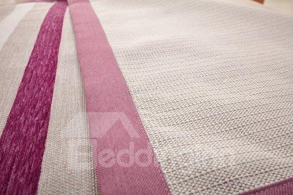 Modern Simple Chenille Purple Strips Print Four Seasons Slip Resistant Sofa Covers