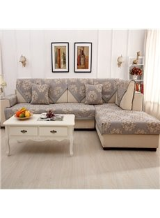 Modern Simple Chenille Flower Print Four Seasons Home Decorative Sofa Covers