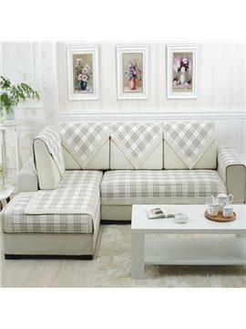 Super Soft Plaid Print Four Seasons Slip Resistant Sofa Covers