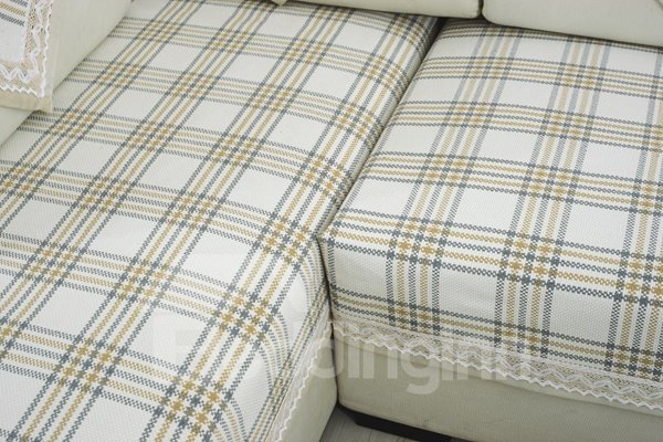Super Soft Plaid Print Four Seasons Slip Resistant Sofa Covers