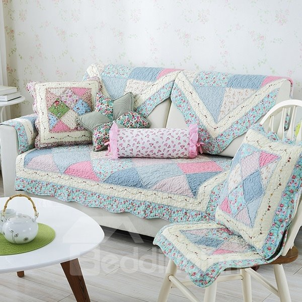 Modern Country Style Splicing Flower Pattern Quilting Seam