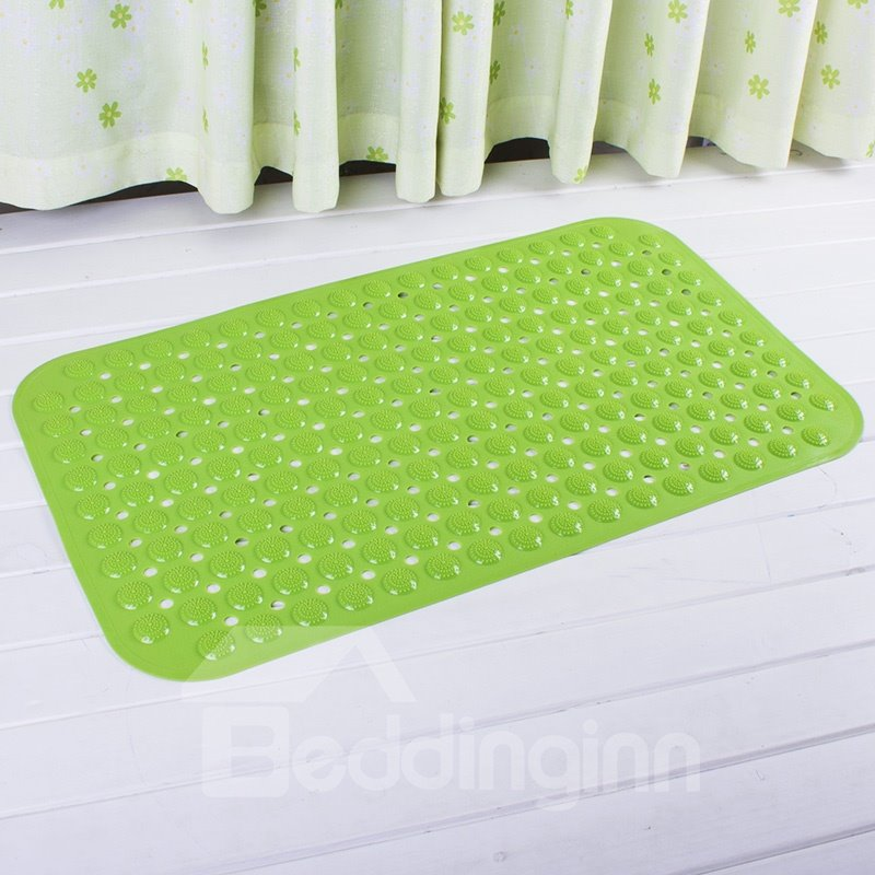 Green Non-Slip Bath and Shower Mat Featuring Powerful Gripping Technology