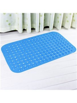 Blue Non-Slip Bath and Shower Mat Featuring Powerful Gripping Technology