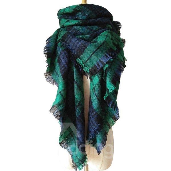 Pretty Hot Popular Main Bright Deep Green Warm Cashmere Square Scarves