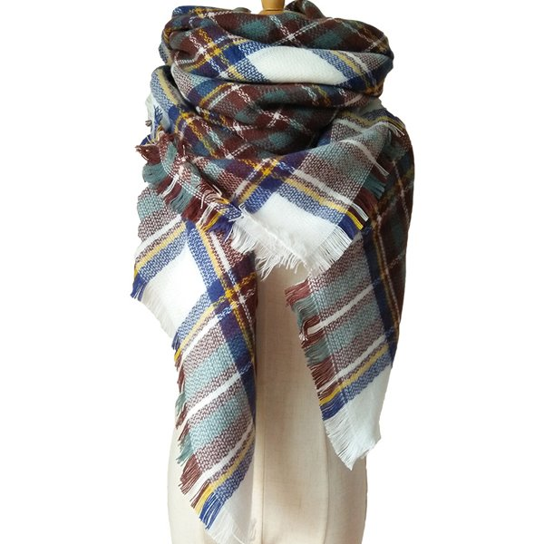 Womens Fashion Lovely Contrast Color Design Cashmere Warm Square Scarves