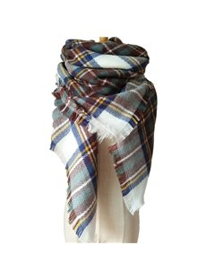 Women's Fashion Lovely Contrast Color Design Cashmere Warm Square Scarves