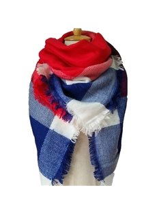 Fashion Scarf For Women Winter Autumn Warm Soft Lattice Square Scarves